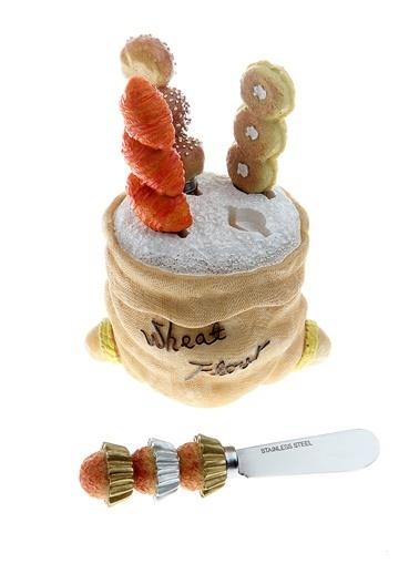 Kanca Ev Wheat-Flour Tereyağ Bıçak Seti, 4'Lü Renkli